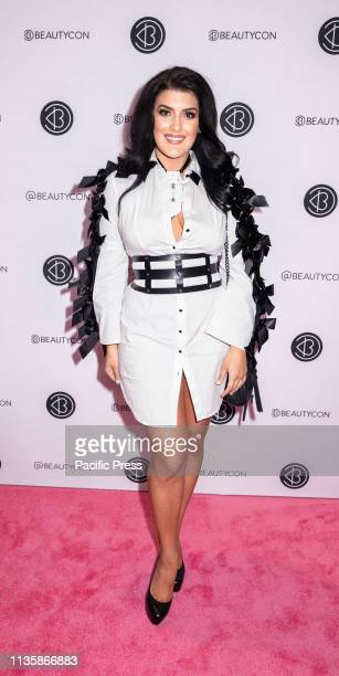 Leia Sergakis attends Beautycon Festival NYC 2019 at Jacob K Javits Convention Center Manhattan