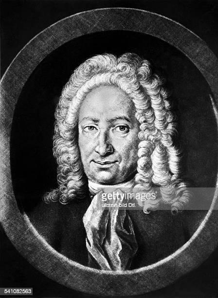 Leibniz, Gottfried Wilhelm *1646-1716+Philosoph, Mathematiker, DPorträt nach einem Gemälde v. Auerbachzeitg. Portrait- undatiert