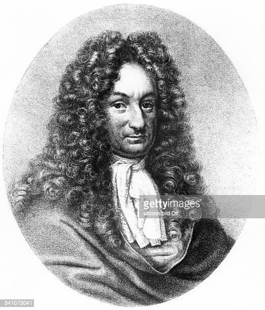 Leibniz, Gottfried Wilhelm*1646-1716+Wissenschaftler, Philosoph, Mathematiker, Dzeitg. Portraet- undatiert
