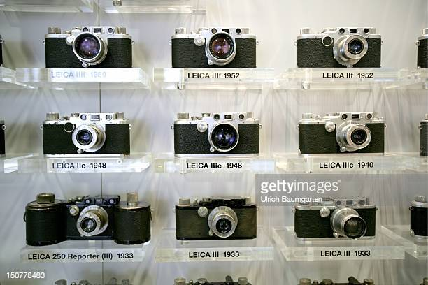 GERMANY SOLMS Leica Camera AG in Solms Over view of the up to now productes camera models