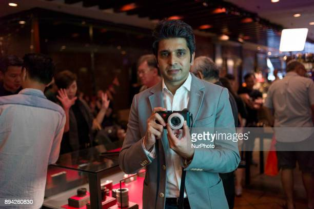 Leica Camera Asia Pacific business manager Eklavya Bakshi holds the newly launched Leica CL camera at an event in Kuala Lumpur Malaysia on December...
