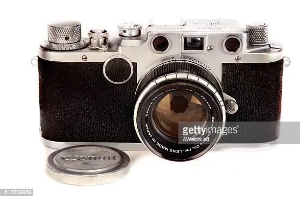 câmera leica clássico iic-circa 1948-51 com a canon lente - leica camera - fotografias e filmes do acervo