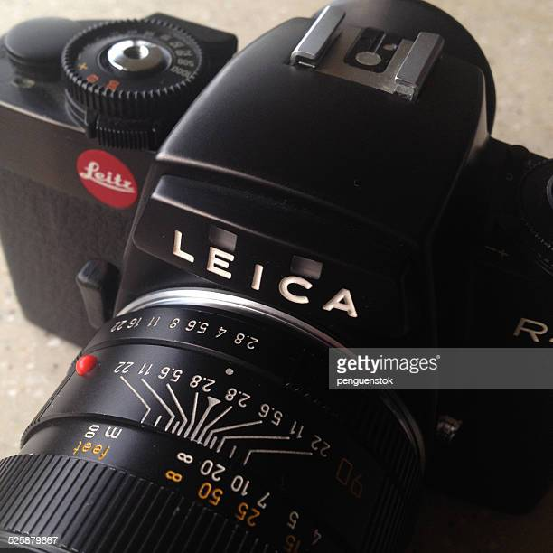 leica r4 slr film camera - renault 4 stock photos and pictures
