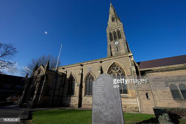 Leicester Cathedral is pictured in central England on February 4 2013 The skeleton of King Richard III will be reinterred at Leicester Cathedral in...