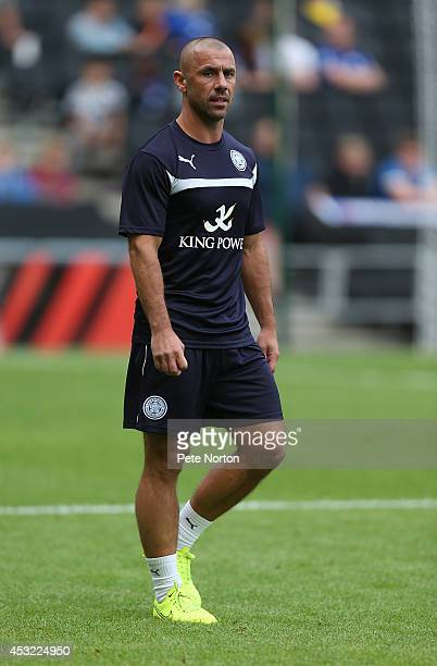 Leicester City 1st team coach Kevin Phillips looks on as the players warm up prior to the PreSeason Friendly match between MK Dons and Leicester City...