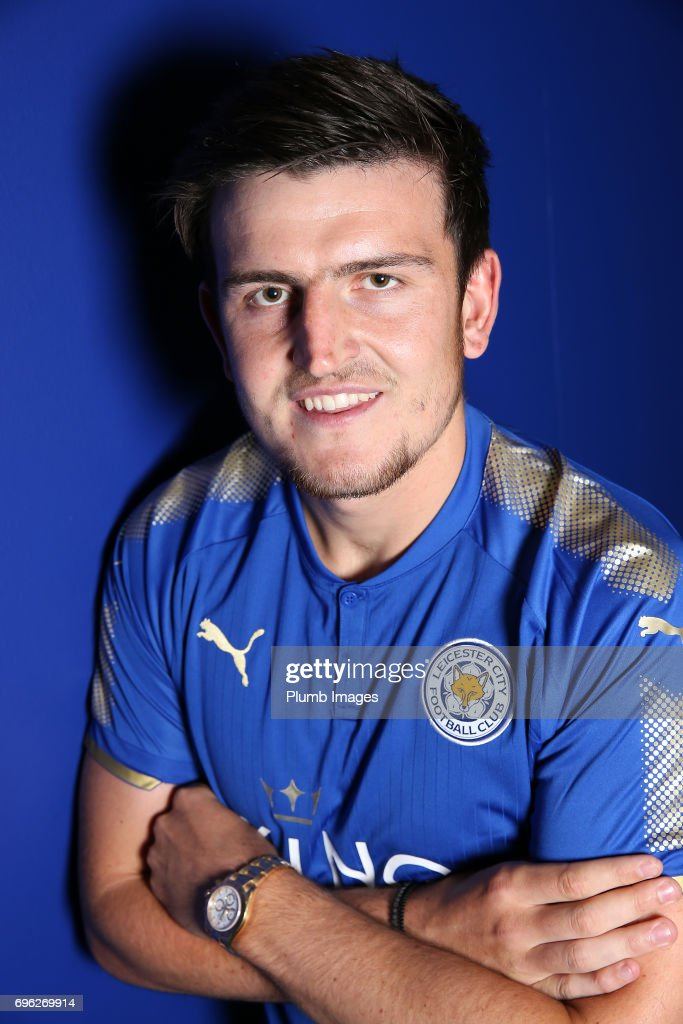 Leicester City Announce Signing of Harry Maguire at Belvoir Drive Training Complex on May 14 , 2017 in Leicester, United Kingdom.