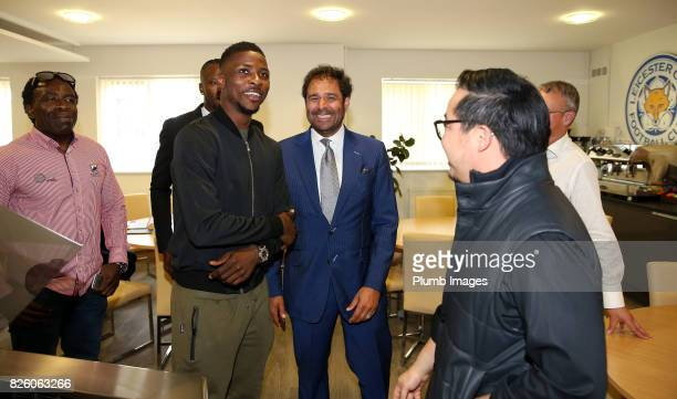 Leicester City announce the signing of Kelechi Iheanacho as he meets Vice Chairman Aiyawatt Srivaddhanaprabha at King Power Stadium on August 3rd...