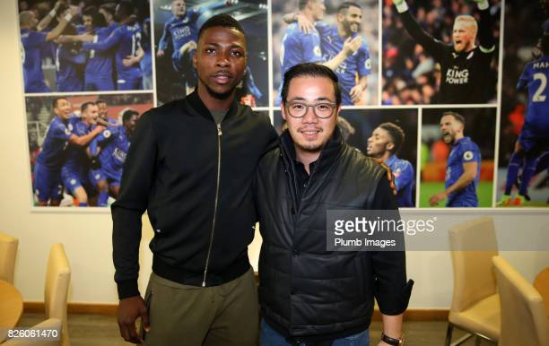 Leicester City announce the signing of Kelechi Iheanacho at King Power Stadium pictured with Vice chairman Aiyawatt Srivaddhanaprabha on August 3rd...