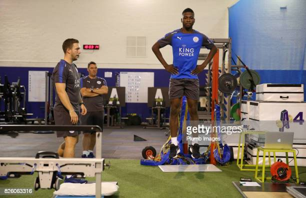 Leicester City announce the signing of Kelechi Iheanacho pictured during his medical at King Power Stadium on August 3rd 2017 in Leicester United...