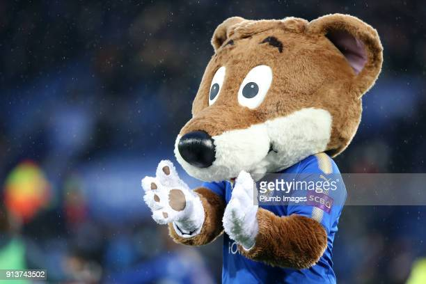 Leicester City club mascot Filbert Fox during the Premier League match between Leicester City and Swansea City at King Power Stadium on February 3rd...