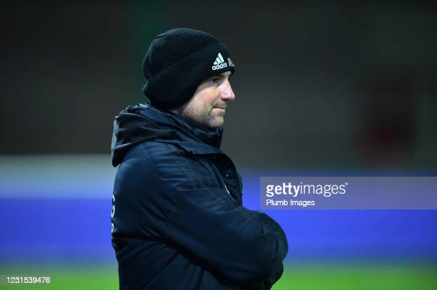 Leicester City Coach Adam Barradell during Leicester City v Sheffield Wednesday: FA Youth Cup at Leicester City Training Ground on March 5, 2021 in...