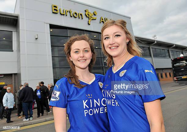 Leicester City fans arrive at Pirelli Stadium ahead of the pre-season friendly between Burton Albion and Leicester City at Pirelli Stadium on July...