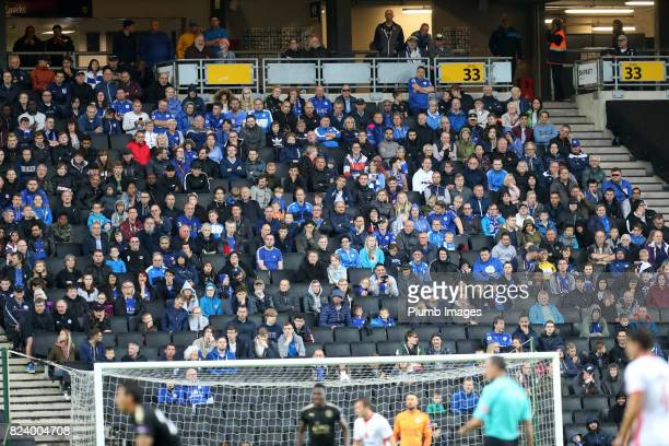 Leicester City fans at Stadium MK during the pre season friendly between MK Dons and Leicester City on July 28th 2017 in Milton Keynes United Kingdom