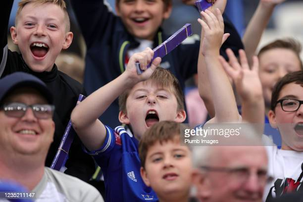 Leicester City fans during the Barclays FA Women's Super League match between Leicester City Women and Manchester United Women at King Power Stadium...