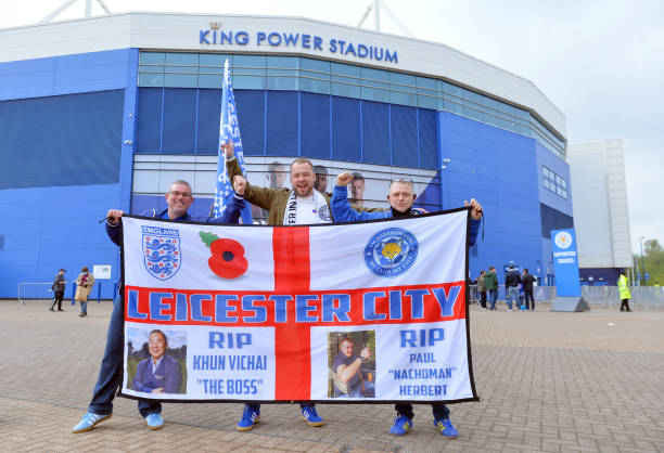GBR: Leicester City Fans Leave the King Power Stadium on the Way to the FA Cup Final