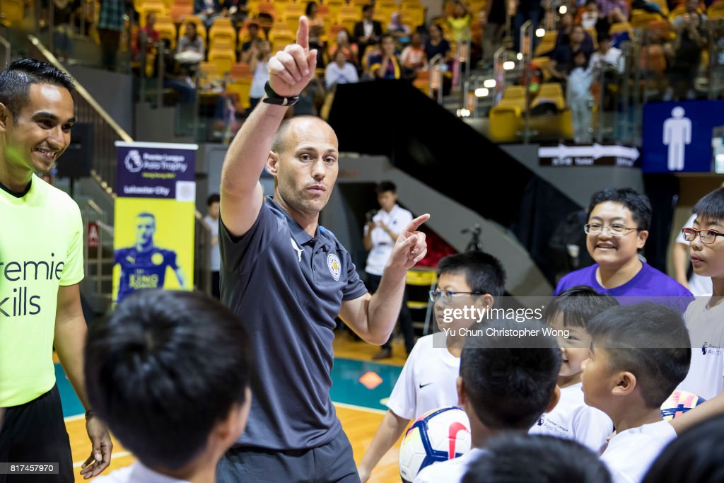 Leicester City FC Community Trust's community manager Matthew Bray attends the Premier League Asia Trophy Skills Session at Macpherson Stadium on July 18, 2017 in Hong Kong, Hong Kong.