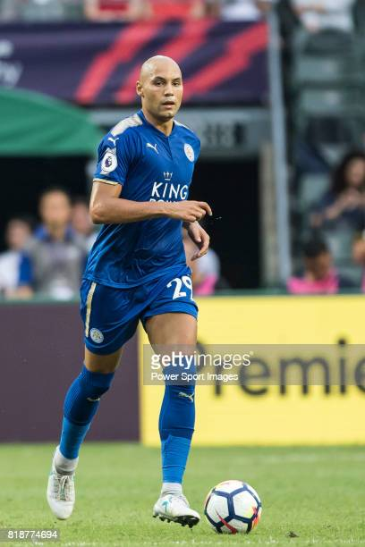Leicester City FC defender Yohan Benalouane in action during the Premier League Asia Trophy match between Leicester City FC and West Bromwich Albion...