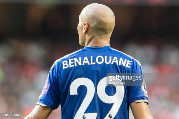 Leicester City FC defender Yohan Benalouane reacts during the Premier League Asia Trophy match between Leicester City FC and West Bromwich Albion at...