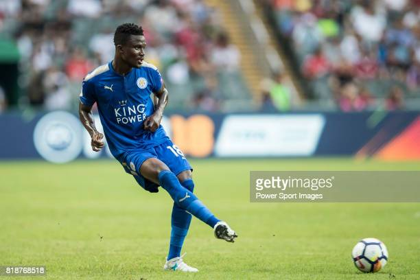 Leicester City FC midfielder Daniel Amartey in action during the Premier League Asia Trophy match between Leicester City FC and West Bromwich Albion...