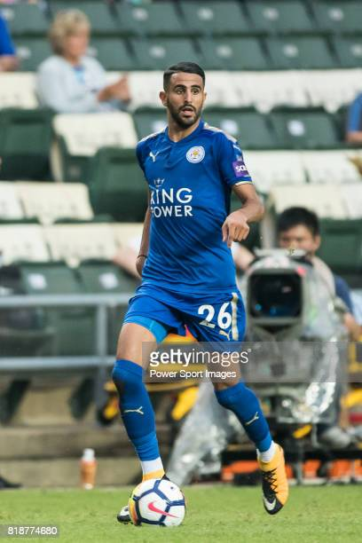 Leicester City FC midfielder Riyad Mahrez in action during the Premier League Asia Trophy match between Leicester City FC and West Bromwich Albion at...