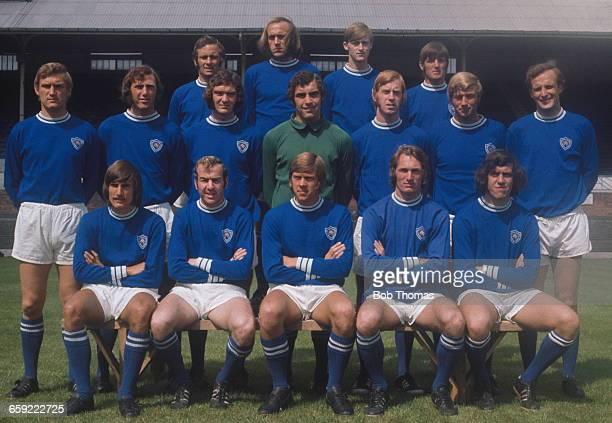 Leicester City football team 1971 Back row left to right Bobby Kellard Rodney Fern Paul Matthews and Willie Carlin Middle row John Sjoberg Malcolm...
