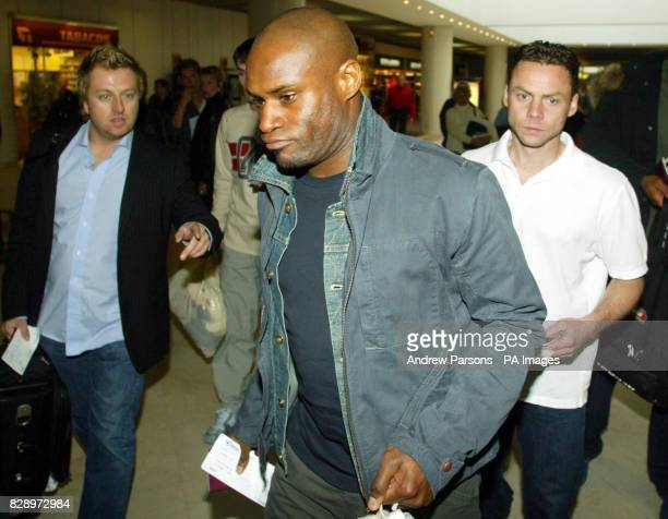 Leicester City footballers Frank Sinclair and Paul Dickov walk through Alicante airport for a flight back to the UK They have been accused of...