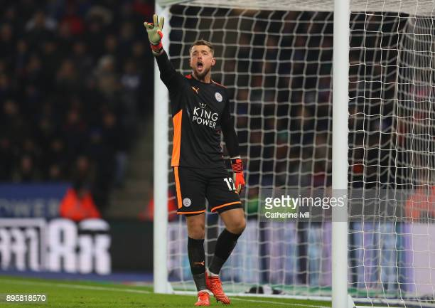 Leicester City goalkeeper Ben Hamer during the Carabao Cup QuarterFinal match between Leicester City and Manchester City at The King Power Stadium on...