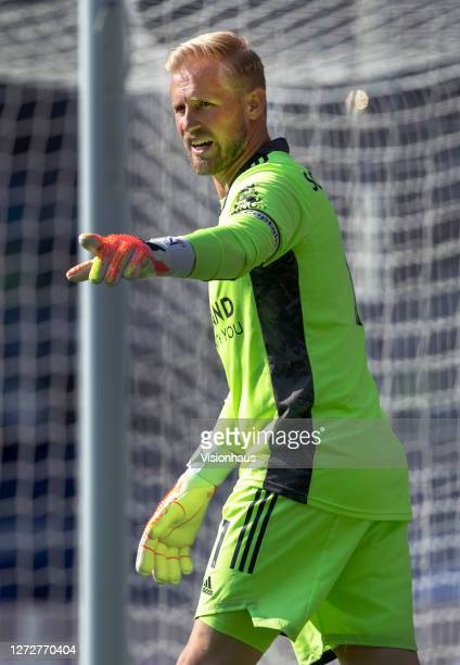 Leicester City goalkeeper Kasper Schmeichel during the Premier League match between West Bromwich Albion and Leicester City at The Hawthorns on...