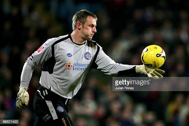 Leicester City goalkeeper Robert Douglas in action during the CocaCola Championship match between Crystal Palace and Leicester City at Selhurst Park...