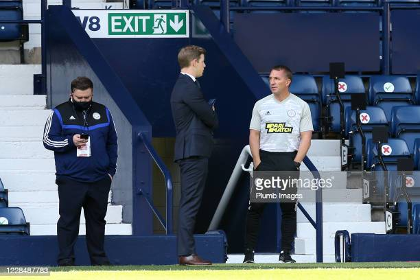 Leicester City Manager Brendan Rodgers ahead of the Premier League match between West Bromwich Albion and Leicester City at The Hawthorns on...