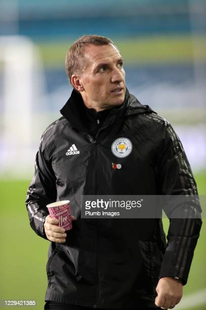 Leicester City Manager Brendan Rodgers ahead of the Premier League match between Leeds United and Leicester City at Elland Road on November 2, 2020...