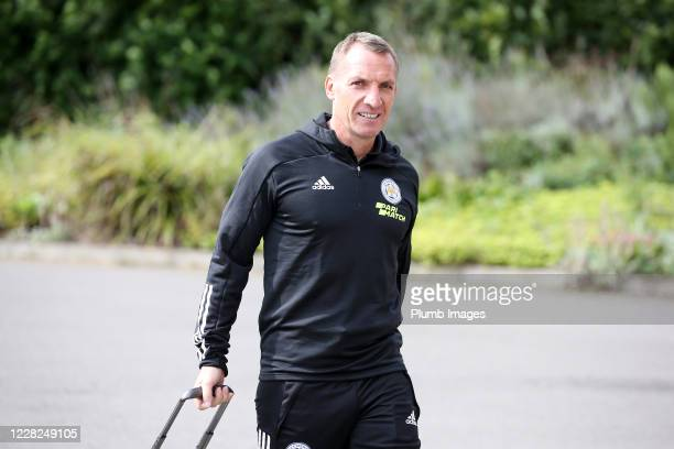 Leicester City Manager Brendan Rodgers arrives ahead of the pre season friendly match between Leicester City and Sheffield Wednesday at Loughborough...