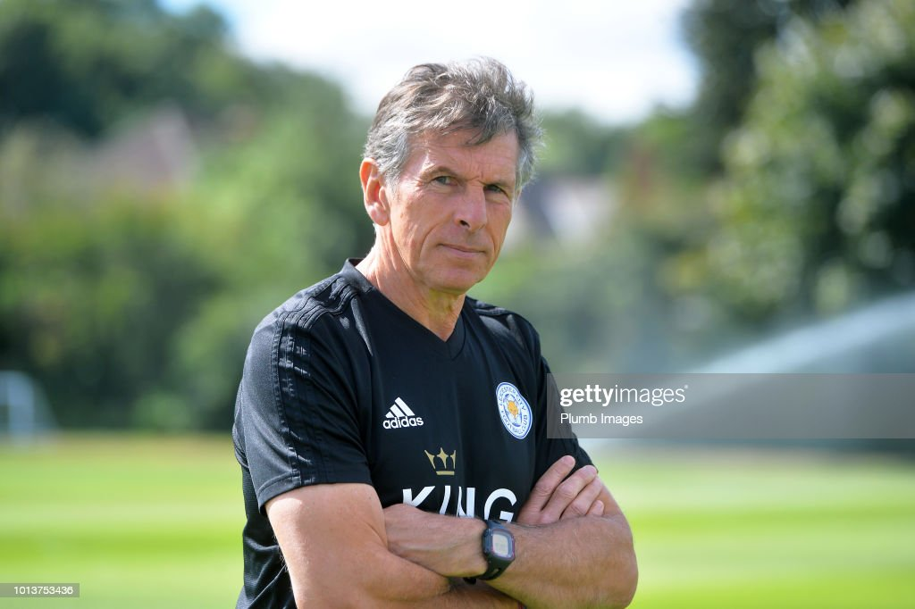 Leicester City manager Claude Puel during the Leicester City training session at Belvoir Drive Training Complex on August 08, 2018 in Leicester, United Kingdom.