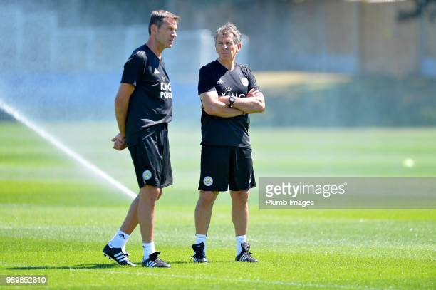 Leicester City manager Claude Puel with new assistant manager Jacques Bonnevay during training as Leicester City Players Return to PreSeason Training...