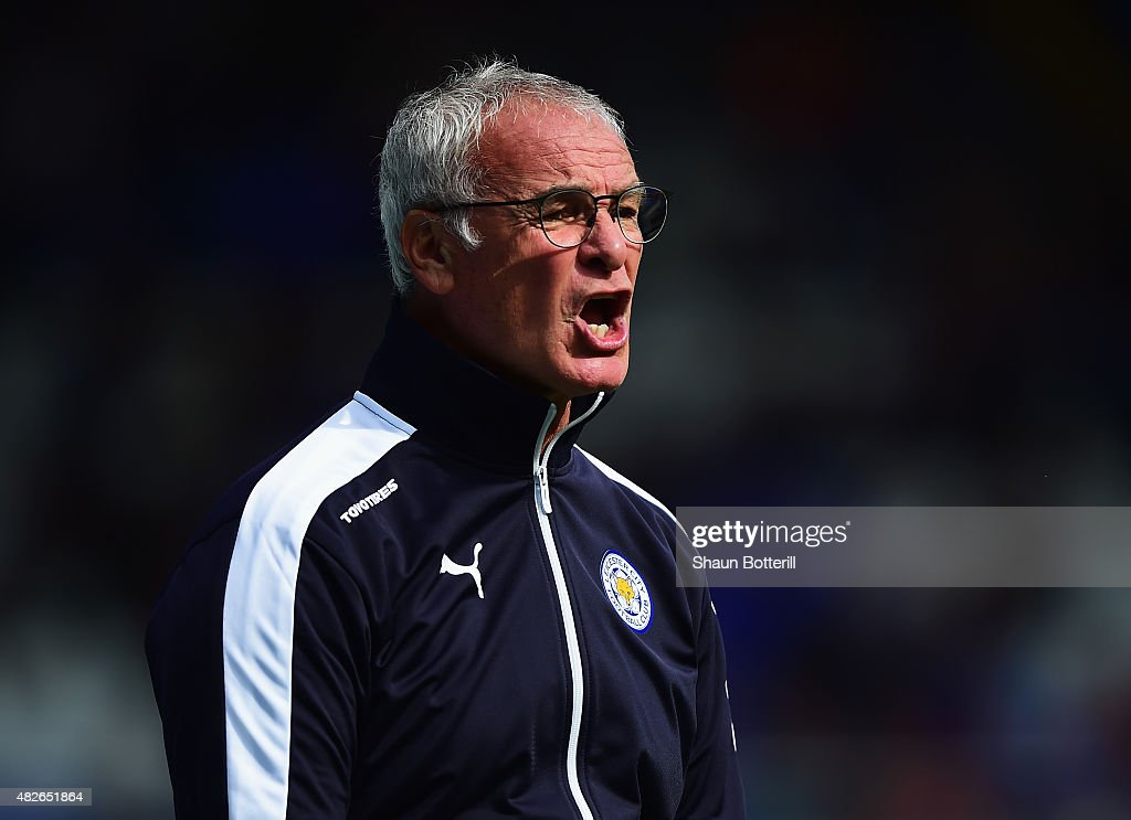 Leicester City manager Claudio Ranieri during the Pre-Season Friendly match between Birmingham City and Leicester City at St Andrews (stadium) on August 1, 2015 in Birmingham, England.