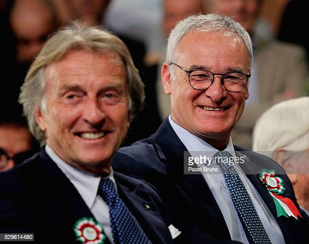 Leicester City manager Claudio Ranieri reacts during the CONI Award ceremony 2016 on May 9, 2016 in Rome, Italy.