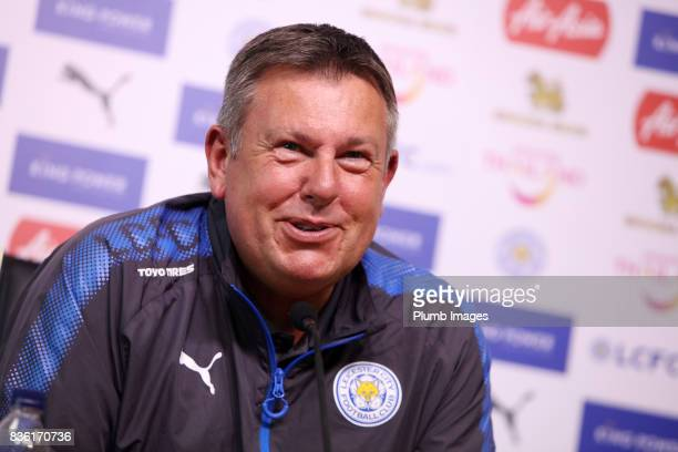 August 21: Leicester city manager Craig Shakespeare during the Leicester City press conference at Belvoir Drive Training Complex on August 21 , 2017...