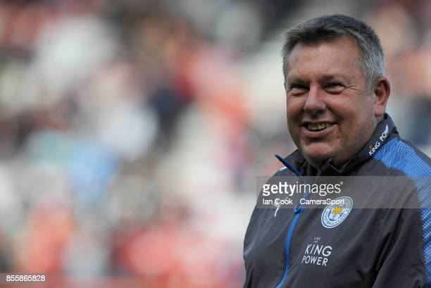 Leicester City manager Craig Shakespeare during the prematch warmup during the Premier League match between AFC Bournemouth and Leicester City at...