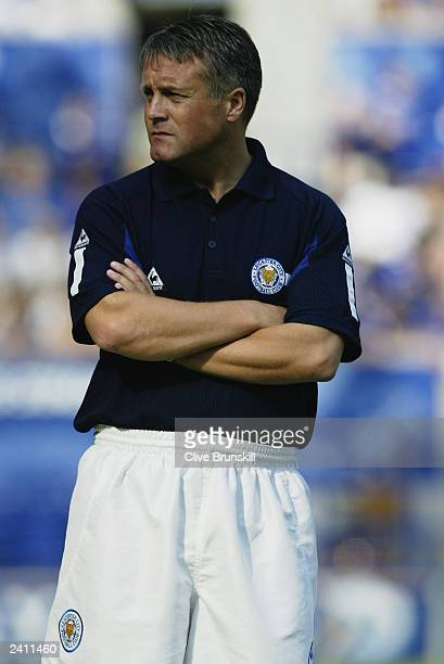 Leicester City manager Micky Adams during the FA Barclaycard Premiership match between Leicester City and Southampton held on August 16 2003 at The...