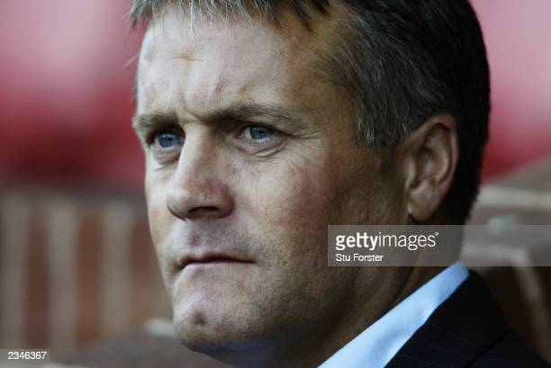 Leicester City manager Micky Adams looks on during the PreSeason Friendly match between Kidderminster Harriers and Leicester City held on July 21...