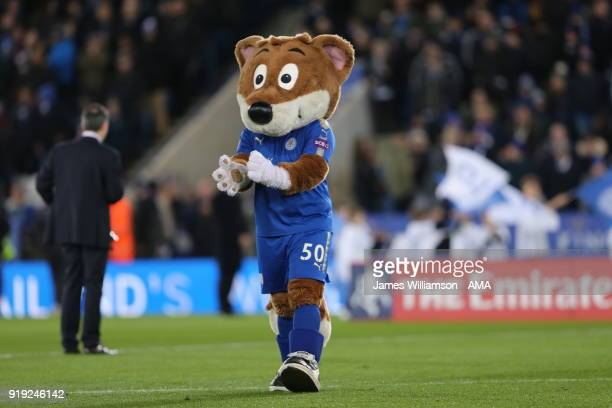 Leicester City mascot Filbert Fox during the Emirates FA Cup Fifth Round match between Leicester City and Sheffield United at The King Power Stadium...