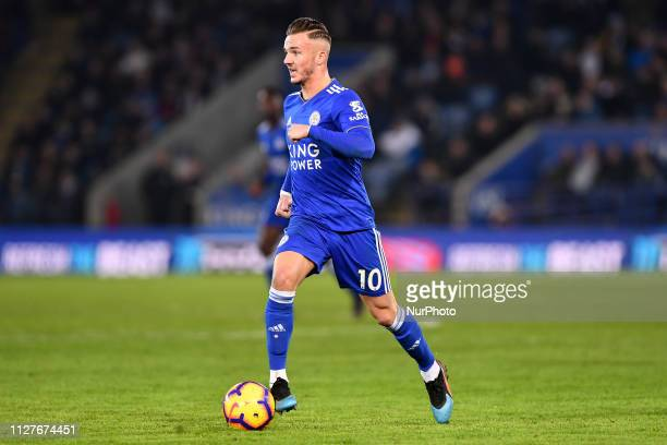 Leicester City midfielder James Maddison during the Premier League match between Leicester City and Brighton and Hove Albion at the King Power...