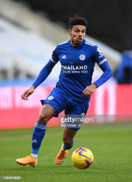 Leicester City player James Justin in action during the Premier League match between Newcastle United and Leicester City at St. James Park on January...