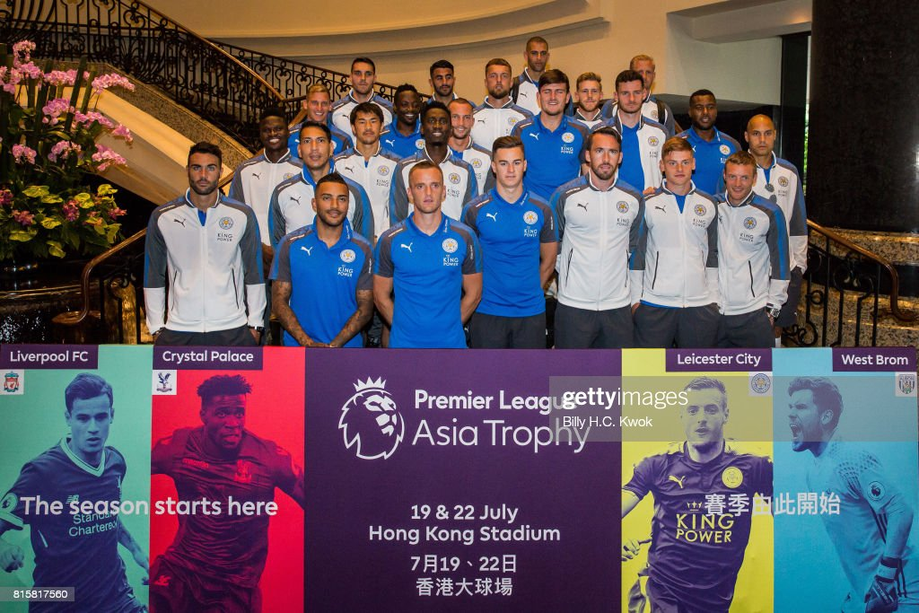 Leicester City players arrive in Hong Kong on July 17, 2017 ahead of the Premier League Asia Trophy, which takes place this week. Crystal Palace, Leicester City and West Bromwich Albion will also compete in the tournament on 19 and 22 July at the Hong Kong stadium.