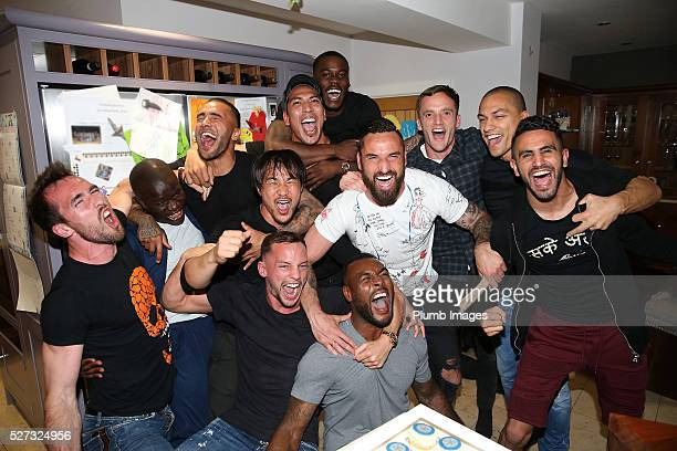 Leicester City players gather at Jamie Vardy's house to watch title rivals on May 2 2016 in Leicester United Kingdom