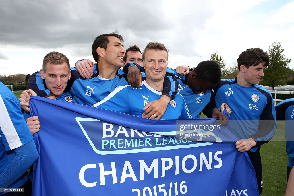 Leicester City Celebrate Their Premier League Title : News Photo