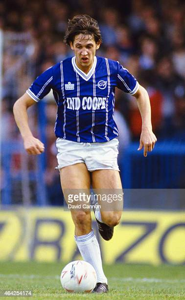 Leicester City striker Gary Lineker in action during a First Division match between Leicester City and Arsenal at Filbert Street on October 13 1984...