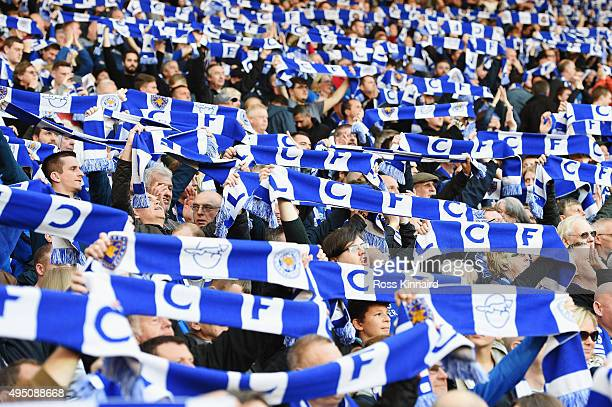 Leicester City supporter cheer prior to the Barclays Premier League match between West Bromwich Albion and Leicester City at The Hawthorns on October...