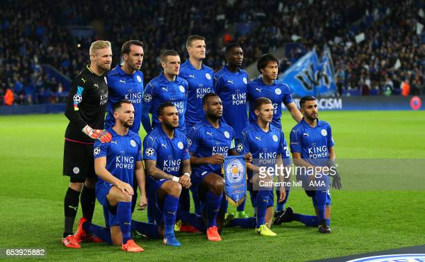 Leicester City team group photo during the UEFA Champions League Round of 16 second leg match between Leicester City and Sevilla FC at The King Power...