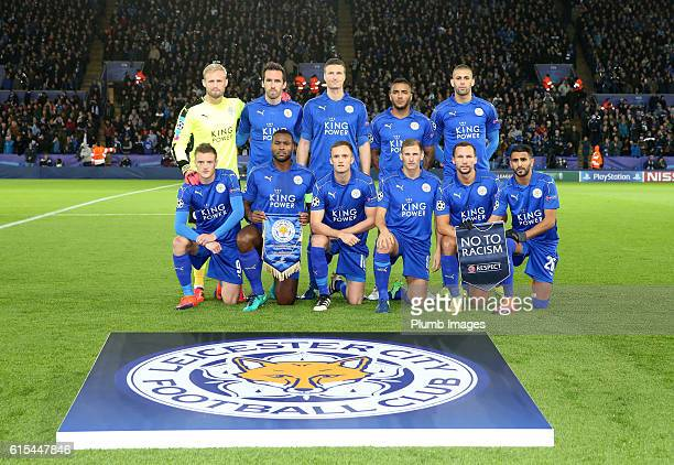 Leicester City team photo ahead of the Champions League match between Leicester City and FC Copenhagen at Leicester City Stadium on October 18th 2016...